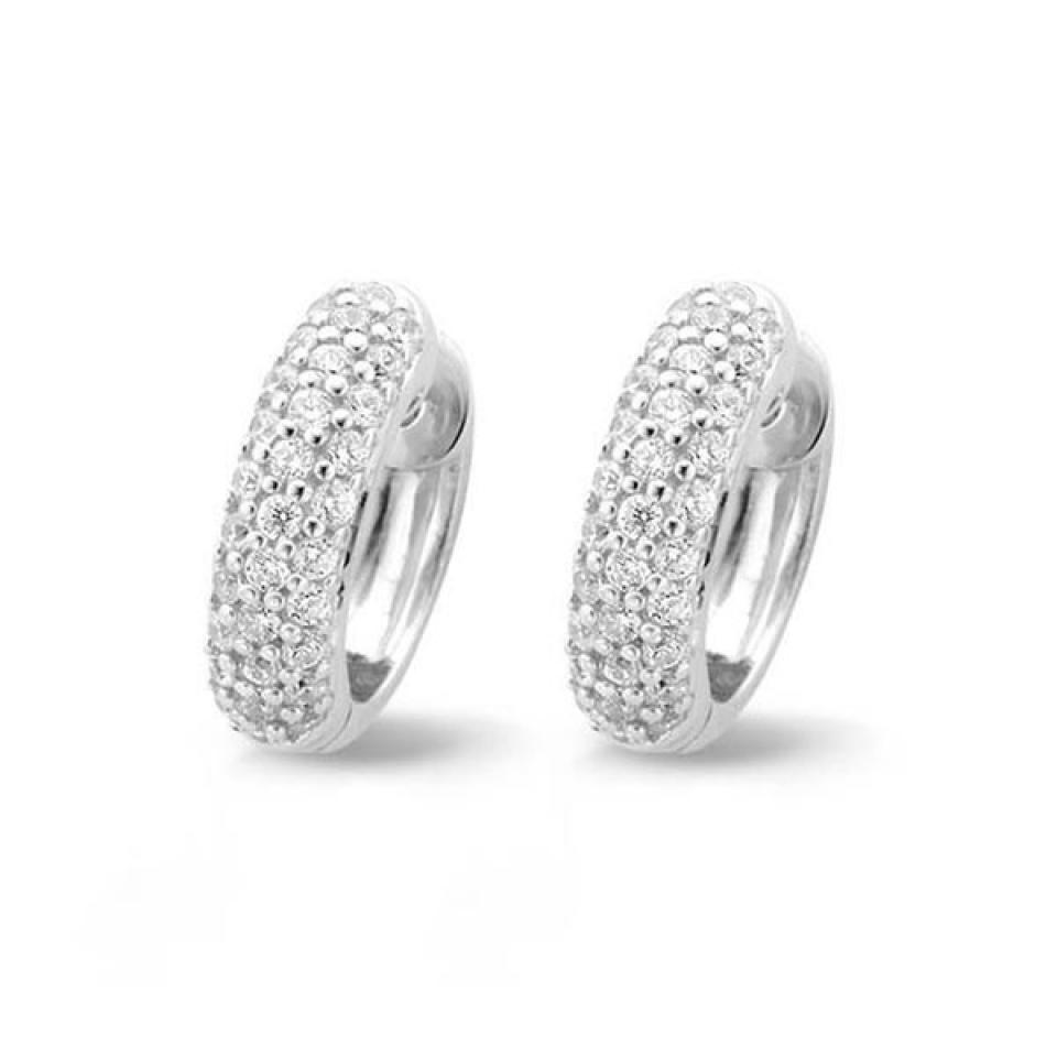 Ti Sento sterling silver hoops